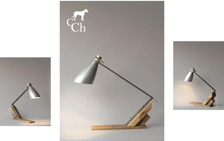 Lámparas únicas de reciclaje.
