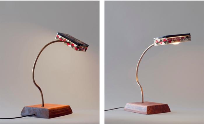 Diseño de lámparas con latas antiguas únicas y originales.