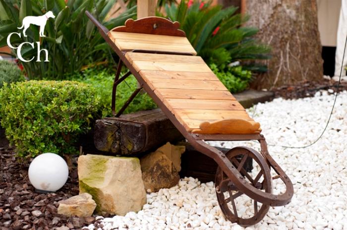 muebles de exterior y jardin reciclaje