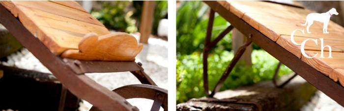 muebles exterior jardin madera y hierro