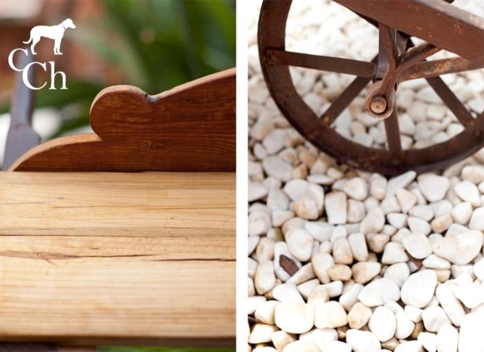 muebles de exterior y jardin de madera y forja